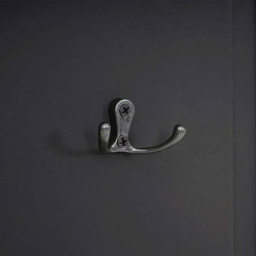 Shabby-Look//weiß lackiert 2x Garderobe Wandgarderobe Wandhaken 109x28x4cm