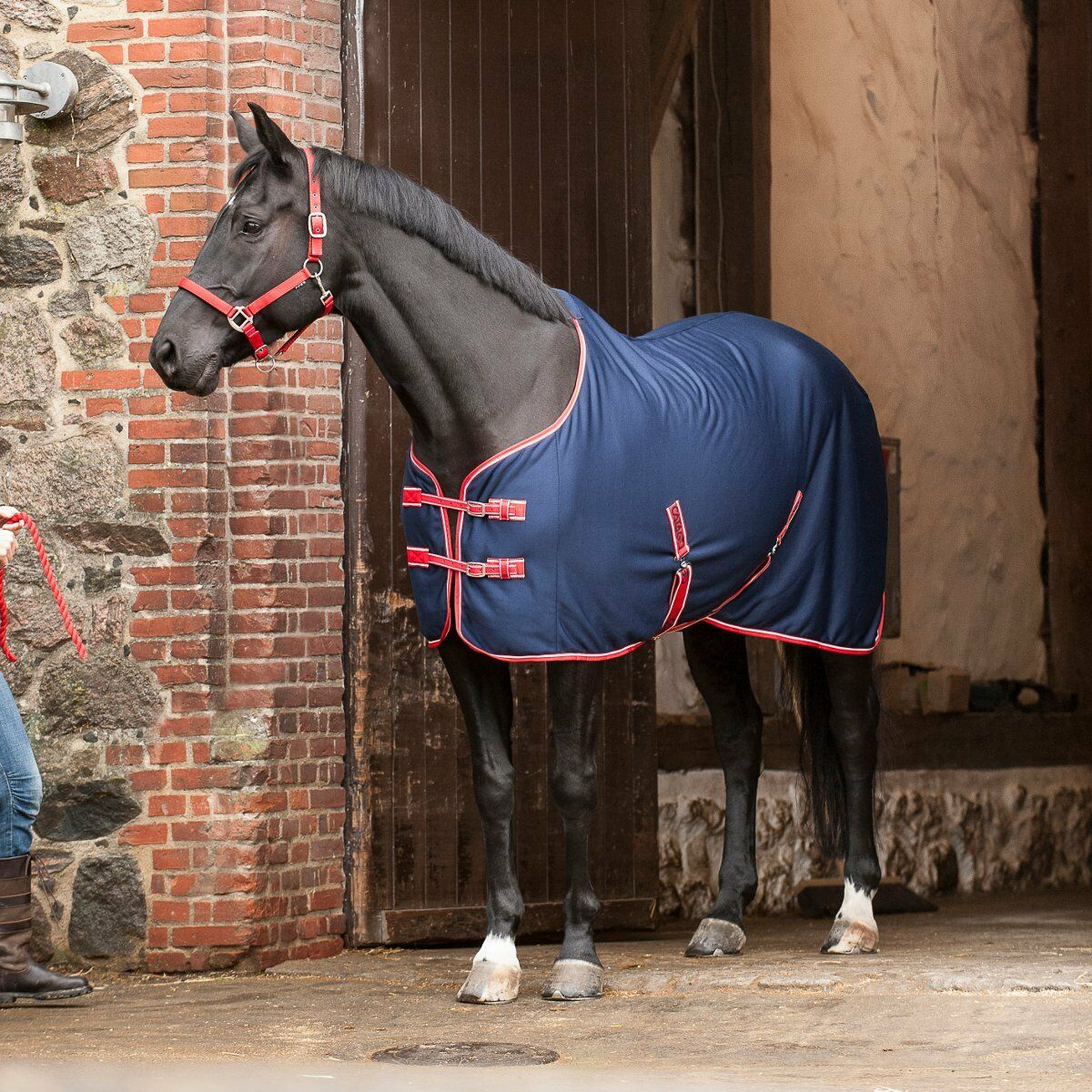 Catago Turbo Dry Cooler Cover - Navy - 165 cm Horse Blanket Fleece Rug