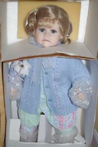 Porcelain Artist Doll 21 with patterns Porzellanpuppen