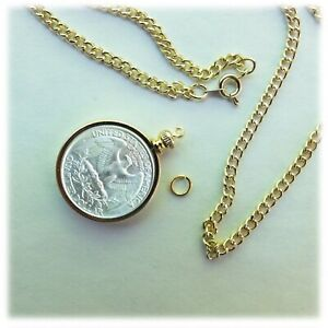 Coin Holder Bezel for Penny USA 1 Cent Gold Plated Pack of 2