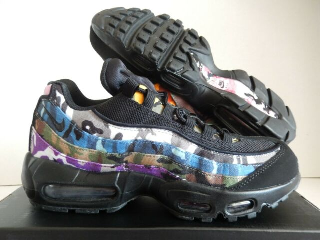 huge discount a0532 55776 Nike Air Max 95 ERDL Party Black Multi Color Camo S 10.5 Ar4473 001 Athletic