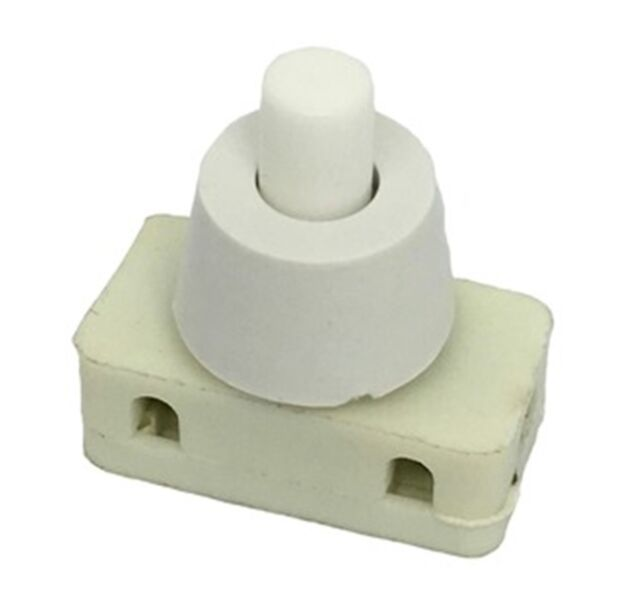 SPST Bedlamp Switch SP0735 Push Button White Single Pole 250VAC 2A