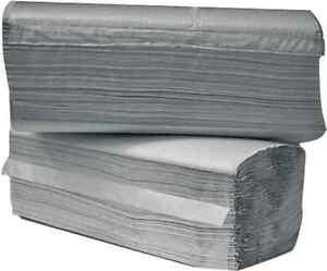 Einweg / Papierhandtücher 1-lagig, grau, 5000 Stk, 25 x 23 cm, ZZ-Falz #788007