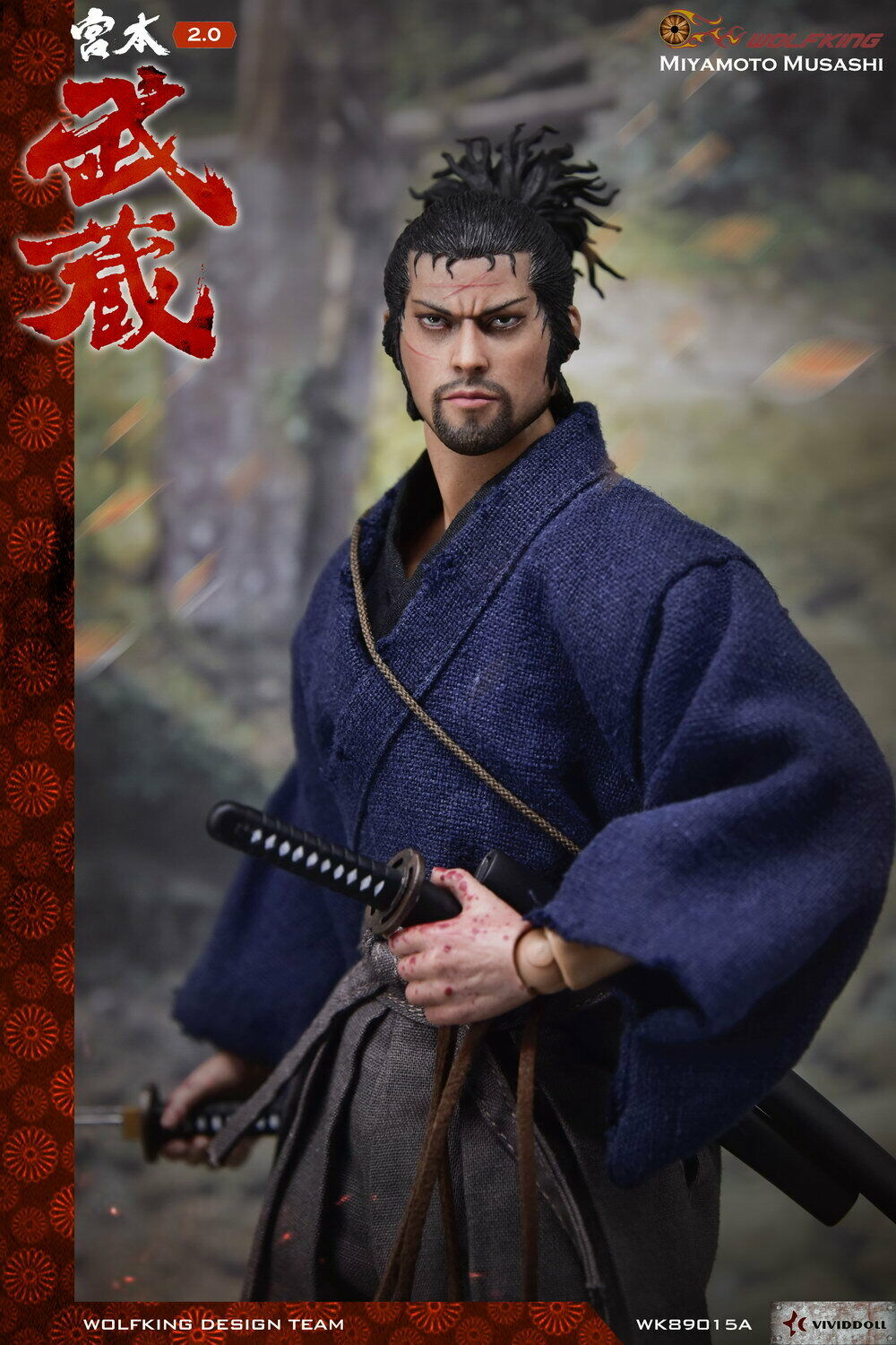 1 6 Scale WOLFKING Miyamoto Musashi Male Figure Normal Ver. WK89015A