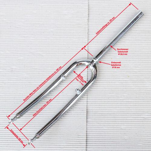 26 MTB Gabel 1 1/8 A Head Gabelschaft chromfarben Radsport Fahrradteile & -komponenten