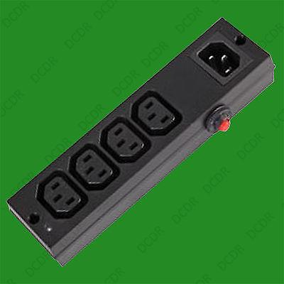 4 Way Iec Rete Elettrica Splitter Distribuzione Estensione Unità Con Interruttore Di Sovraccarico-