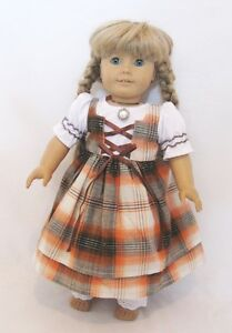 Doll-Clothes-18-034-Doll-Dress-School-Pioneer-Fits-American-Girl-Doll-Kirsten