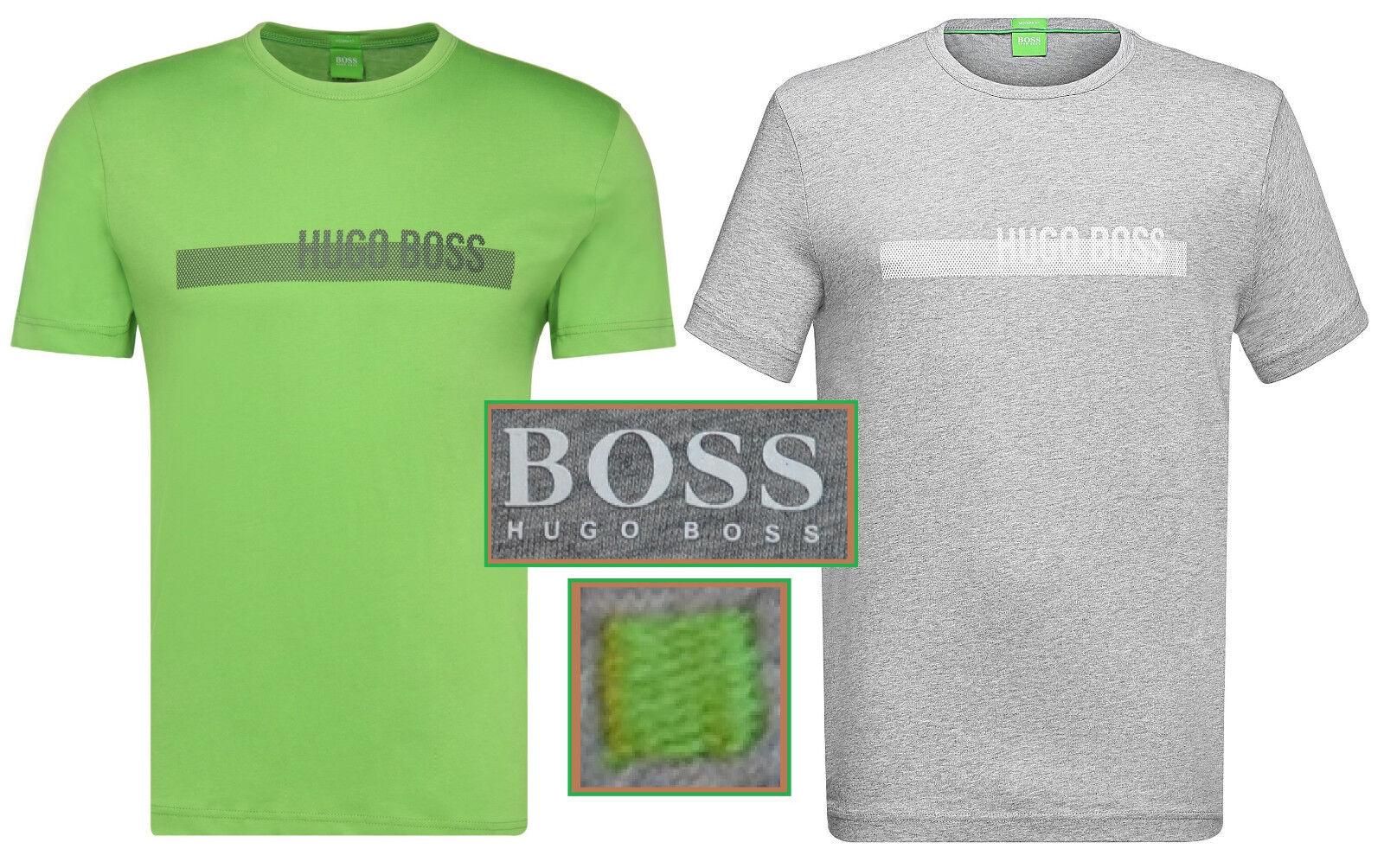 NWT Hugo Boss Grün Label By Hugo Boss LOGO Tee Cotton T-Shirt