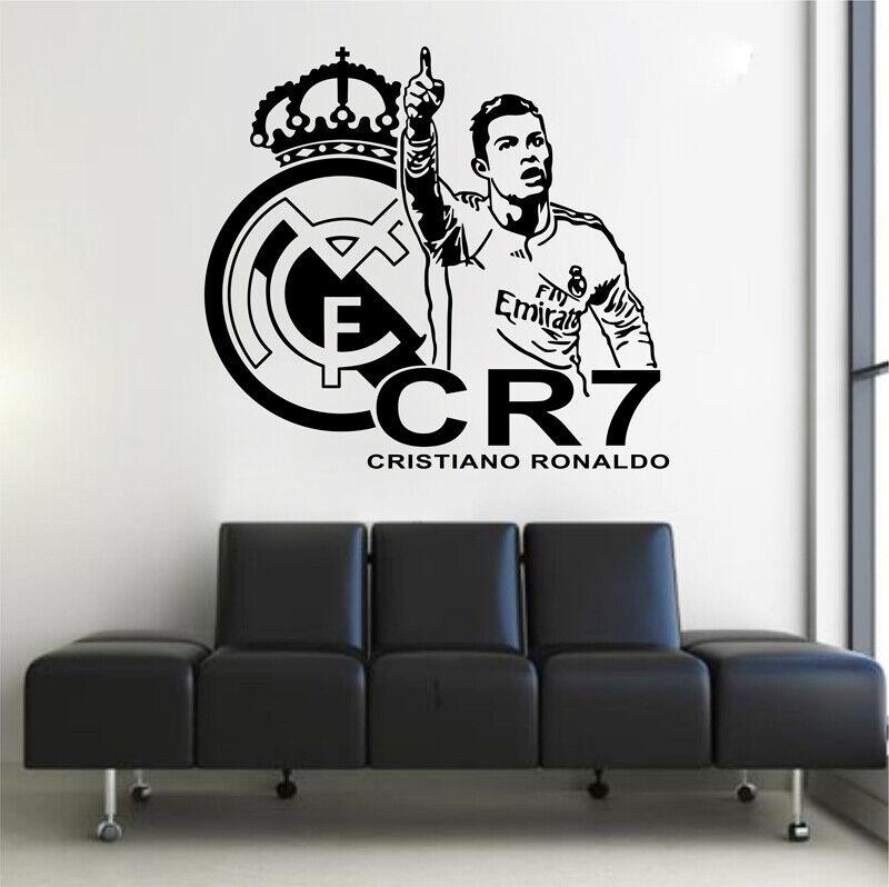 Cristiano Ronaldo Real Madrid Wall Sticker Wallpaper Cr7 Football Soccer Decal Ebay