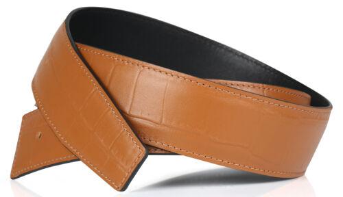 Coccodrillo Marrone Cintura Reversibile 40 mm fibbia cintura H Cintura in Pelle Vera Pelle Pelle