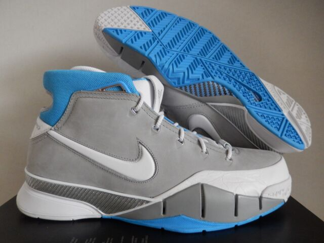 76681871185a Nike Kobe Bryant 1 Protro Grey Blue Lakers Undefeated Mamba Aq2728 001 Size  11