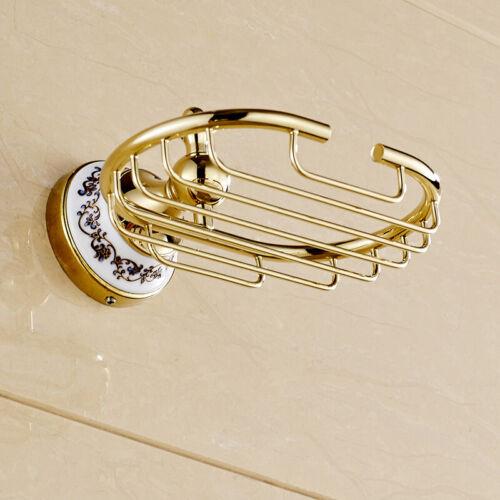 Luxury Gold Ceramic base Bathroom Hardware Set Bath Room Accessories Towel Bar