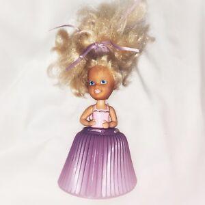 Tonka-Cupcake-Doll-Girl-Blond-Hair-Pink-Top-Purple-Skirt-Vintage-Toy