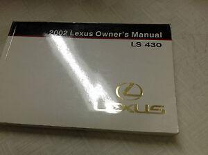 2002 lexus ls430 ls 430 owners manual factory dealership glove box rh ebay com Honda NSX lexus gs 430 user manual