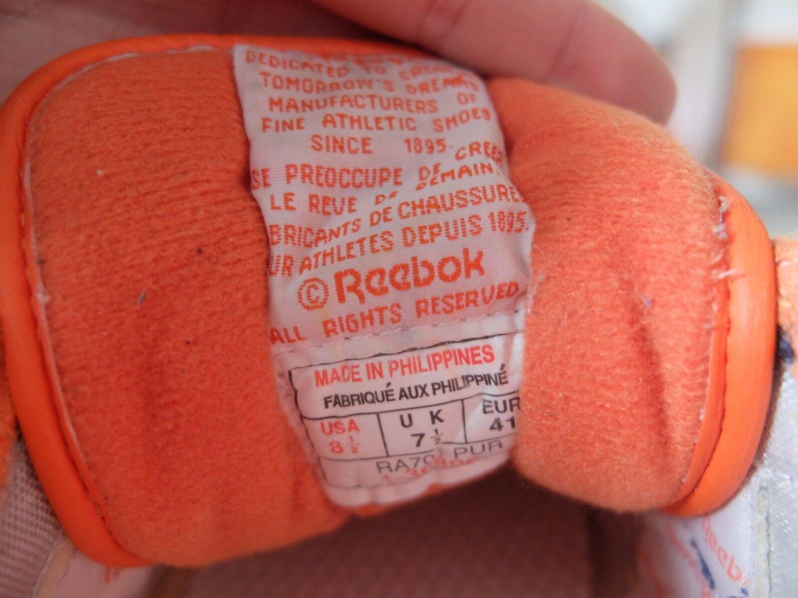 Reebok CLASSIC Sneaker Turnschuhe Leder Blau Orange RA 70  UK UK  7,5 True Vintage f7dd26