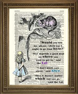 Alice In Wonderland Cheshire Cat Tree Riddle Vintage