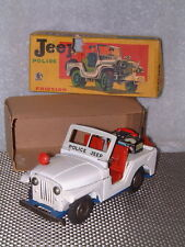 VINTAGE SSS INTERNATIONAL POLICE JEEP, TIN, FRICTION DRIVEN MODEL IN BOX! SWEET!