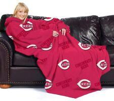 MLB Cincinnati Reds Adult Comfy Throw Blanket With Sleeves