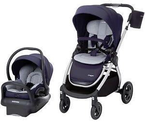 Maxi-Cosi Adorra Travel System Stroller w/ Mico Max Infant Car Seat & Base Navy