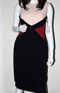 donna colore Abito Calvin da block Klein smanicato cachi color Nwt qSPZw