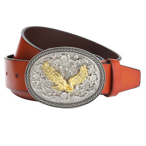 Cintura-uomo-stile-western-con-fibbia-Cowboy-Texas-Flying-Eagle-Pattern