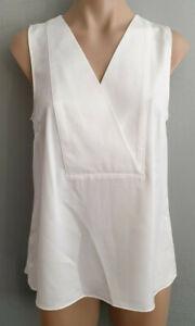 BNWT-Womens-Sz-20-Target-Preview-White-Pleat-Back-Sleeveless-Drape-Tunic-Top