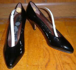 97f53f1c14 Image is loading NWOB-Peter-Kaiser-Classic-Black-Patent-Leather-Pumps-