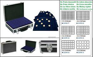 Lindner-2338MNW-coin-case-ALU-Black-8-Blue-Tableaux-Free-Selection