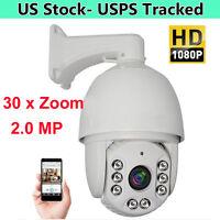 30x Zoom Hd 1080p 2.0mp Outdoor Ptz Ip Speed Dome Camera Ir Night Cmos 7'' Auto