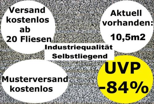 Teppichfliesen GRAU BEIGE ANTHRAZIT NEU B1 50x50 Schlinge 6,5mm 2,95€//Fliese