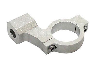 CNC Spiegel Schelle Halter Klemme Silber mit 10mm Rechtsgewinde & 1 Zoll Lenker