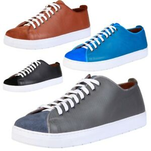 PIERRE-CARDIN-Scarpe-Uomo-Sneakers-stringate-100-VERA-PELLE-camoscio-casual-DD