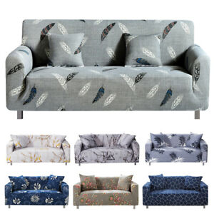 1//2//3//4 Seater Elastic Sofa Covers Stretch Couch Loveseat Protector Slipcover UK