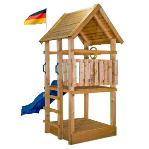 spielturm toby kletterturm kletterhaus rutsche schaukel baumhaus spielhaus ebay. Black Bedroom Furniture Sets. Home Design Ideas
