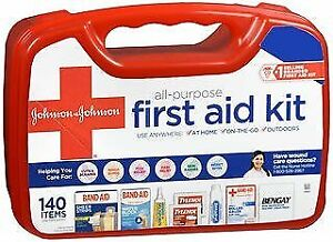 Johnson & Johnson Red Cross All Purpose First Aid Kit 140 Items 1 Kit (4-Pack)