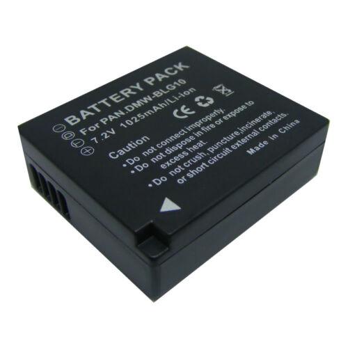 2X DMW-BLG10E DMW-BLG10PP Batería Para Panasonic DMC-GF6 GX7 GF3 GF5 DE-A98