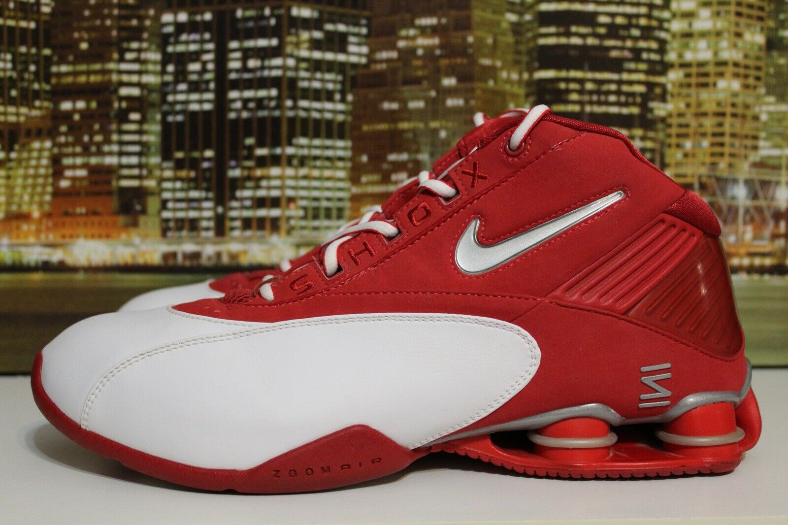 Nike Shox Status Tb 2003 Varsity Red White Silver Basketball Sneakers Size 11