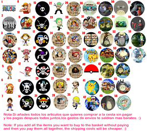 chapa button badge custom pins one piece pokemon totoro chihiro ebay