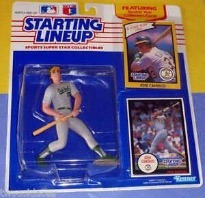 1990  JOSE CANSECO Yellow Kenner Starting Lineup Card Oakland Athletics -