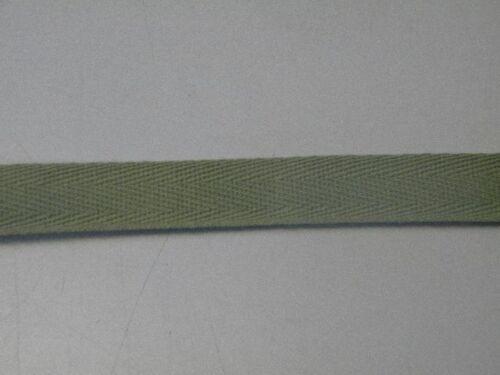 5m de sergé vert kaki mercerie galon biais  neuf largeur 1.5cm