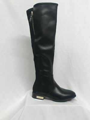 NEW LADIES WOMENS OVER THE KNEE HIGH WIDE FIT CALF FLAT HEEL WINTER BOOTS SZ 3-8