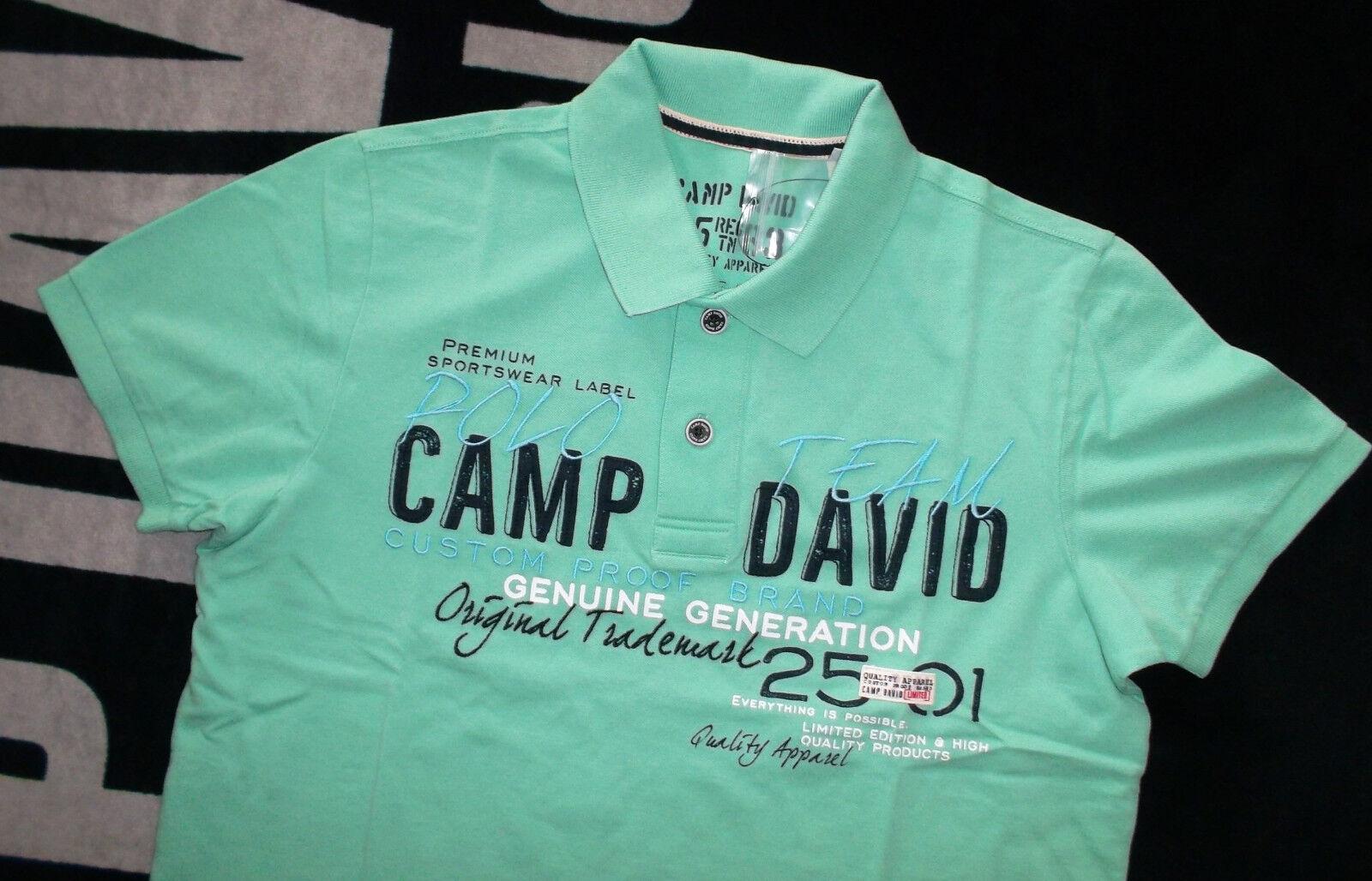 BRANDAKTUELL Camp David Poloshirt green oder red T-Shirt  Gr.L  NEU
