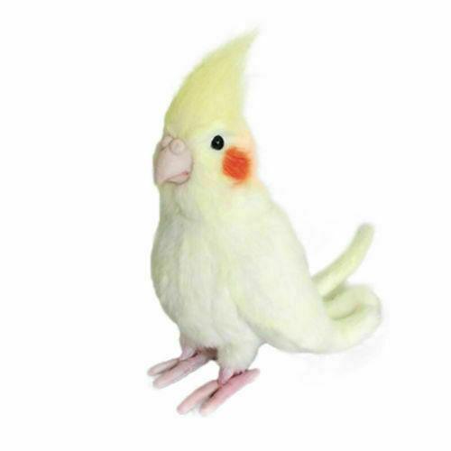 Simulation Cockatiel Parrot Bird Plush Toy Yellow Bird Cute Stuffed Animal Doll
