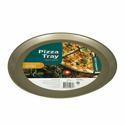 2x Pizza Tray Plate Pan Non-Stick 328mm Round Large Pizzas Oven