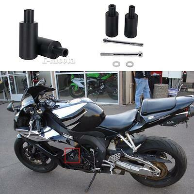 Frame Sliders Crash Protector Fits  Honda CBR 600 RR 2007-2008 No Cut Black  UA