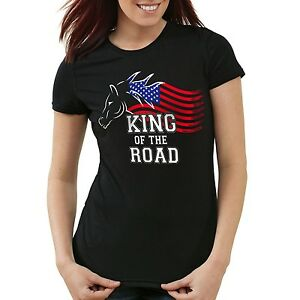 King-of-the-Road-Damen-T-Shirt-Amerika-America-Muscle-Car-motor-tuning-auto-usa