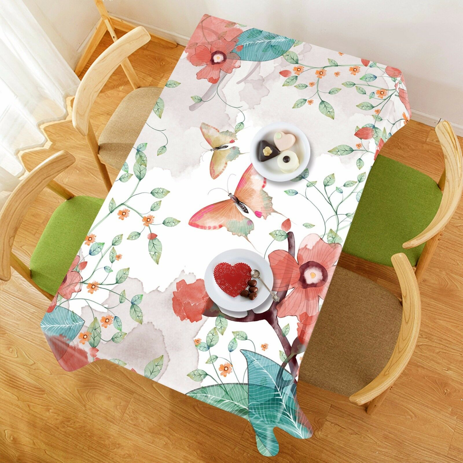 3D Butterfly76 Tablecloth Table Cover Cloth Birthday Party Event AJ WALLPAPER AU