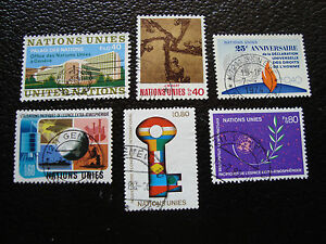 United-Nations-Geneve-Stamp-yt-N-22-28-35-48-88-107-Obl-A14