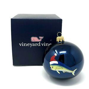 Vineyard-Vines-Mahi-Fish-Santa-Hat-Ball-Globe-Christmas-Ornament-2017-New-in-Box