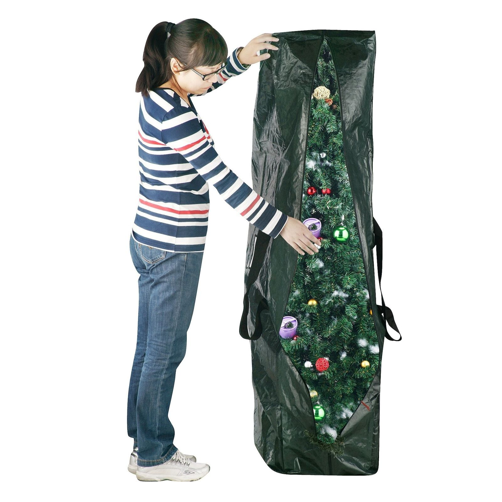 Elf Stor Premium Green Christmas Tree Bag Holiday Extra for up